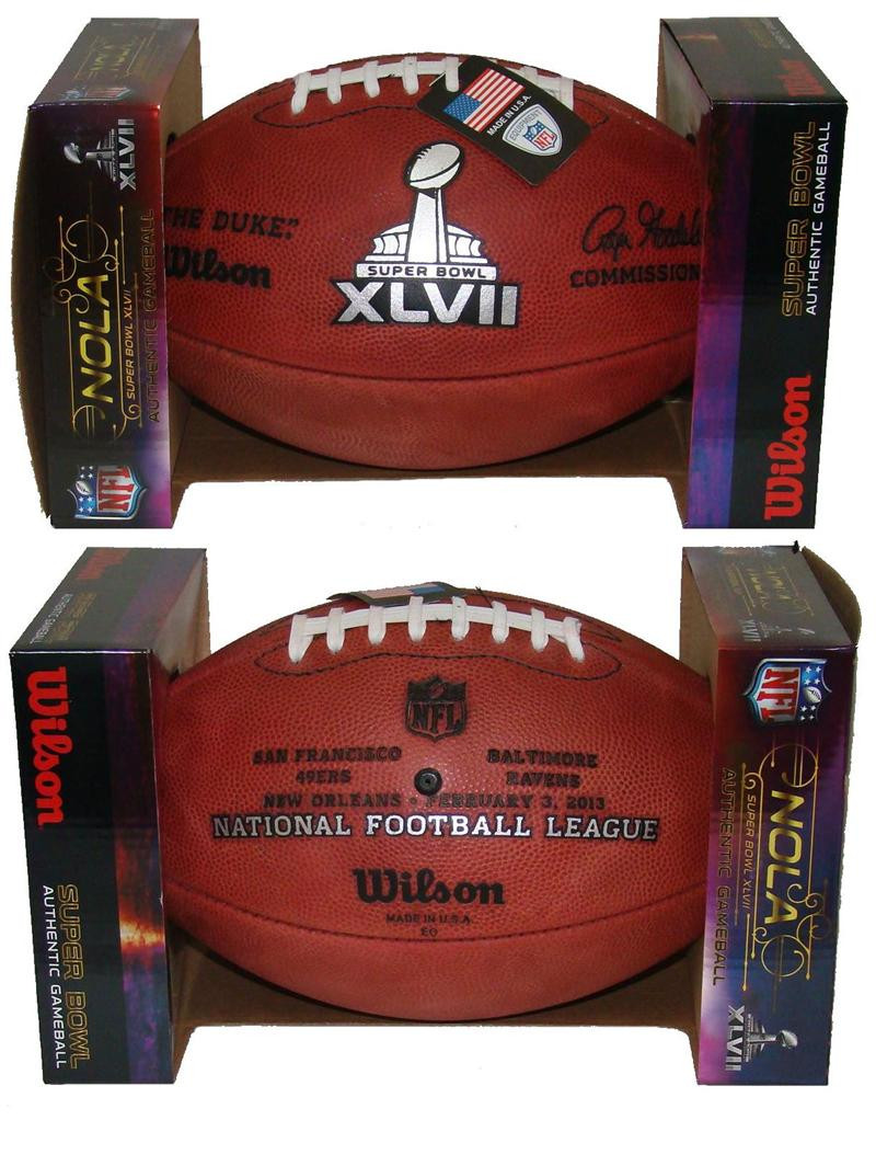 Super Bowl XLVII 47 Official Leather Authentic Game Football by Wilson.  Wilson Sporting Goods · Image 1 4489180f4