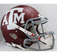Texas A&M Aggies Matte Riddell Full Size Authentic SPEED Helmet