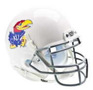 Kansas Jayhawks Alternate White Schutt Mini Authentic Helmet