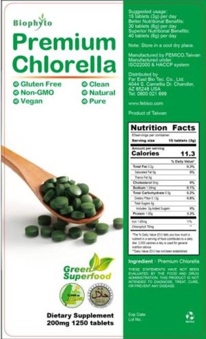 Biophyto 174 Formosa Chlorella 250g Febico Organic Health