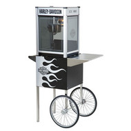 H-D® Metallic Flames Popcorn Machine w/Cart