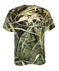 Duck Commander T-Shirt with Camo Logo, Small