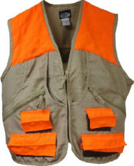 WFS Upland Hunting Game Vest Tan/Orange (XL)