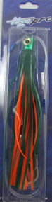 Mahi Mouthful Skirted Rigged Trolling Lure (Green/Orange/Chart)