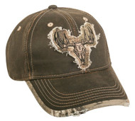 Realtree Xtra Weathered Cotton Camo Deer Skull Patch Cap
