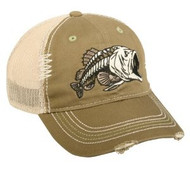 Bass Bonefish Meshback Fishing Hat