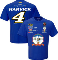 NASCAR Adult Uniform Crew Racing T-Shirt (#4 Kevin Harvick, XXL)