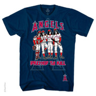 Major League Baseball Rock N Roll Kiss Dressed To Kill Fan T-Shirt (Angels, M...