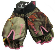 Huntworth Ladies Hunting Oaktree Camo Extreme Cold Pop-Top Womens Glove (Small)