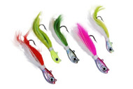 H2o Pro Jigging Bucktail Fishing Lure (Glow/White, 1oz)