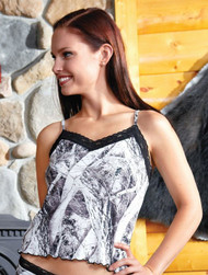 Naked North Snow Black Lace Camisole
