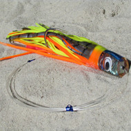 Katana Skirted Trolling Lures (chartreuse/orange/abalone, Small)