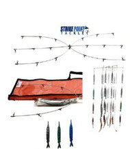 Strike Point Tackle 36'' Dredge & Teaser Kit Pink Ballyhoo Fish Strips