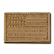 Rapdom Tactical Canvas Patche - Size 3 X 2 inch - A Flag Coyote