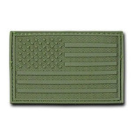 Rapdom Tactical Canvas Patche - Size 3 X 2 inch - A Flag Olive