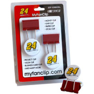 NASCAR Jeff Gordon MyFanClip Multipurpose Clips (Pack of 2)