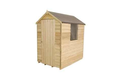 Overlap Pressure Treated 6x4 Apex Shed