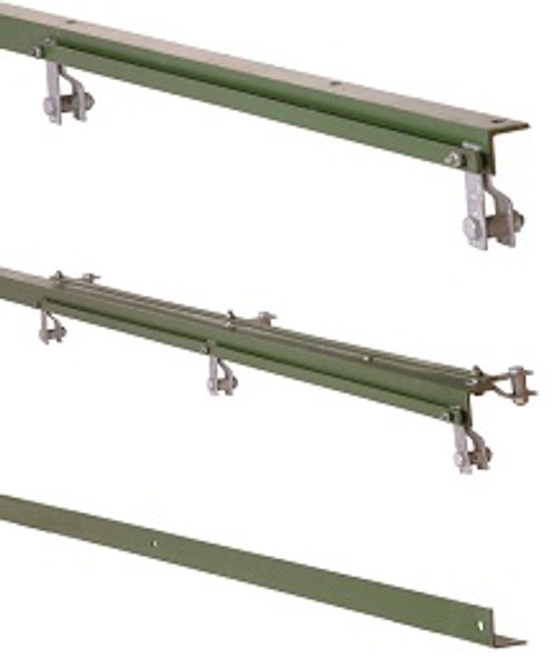 2.5m Green 50 X 50 X 6mm Angle Iron Gate End Slamming Post For Right Hand Gate