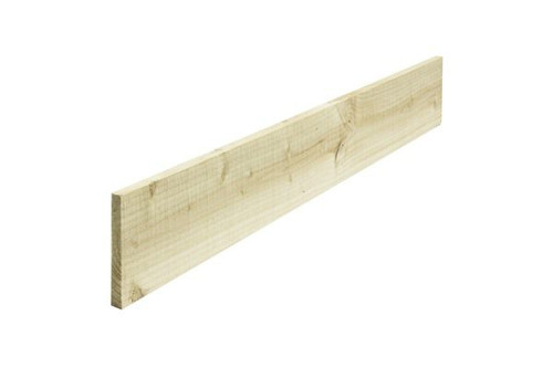 Timber Gravel Board 3m x 150mm x 22mm Pressure Treated Natural