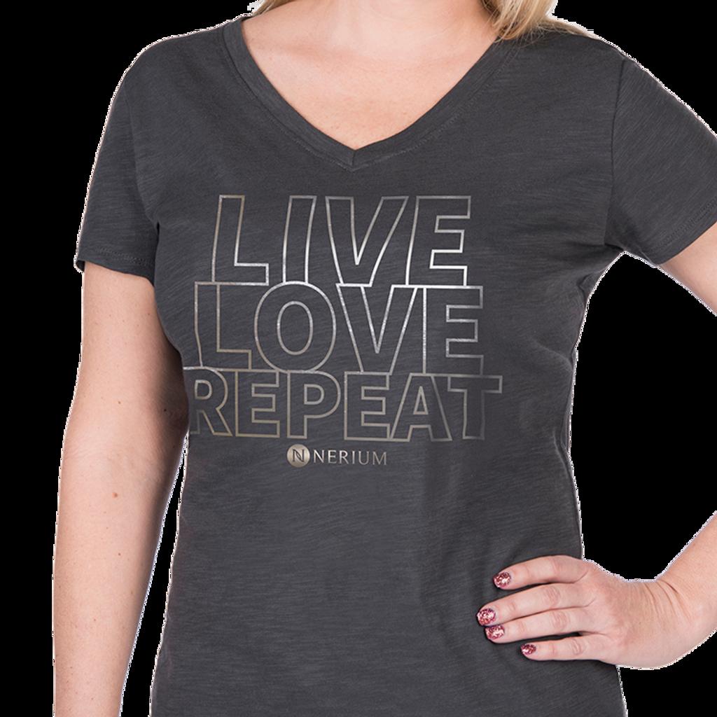 Ladies Live-Love-Repeat V-Neck Tee