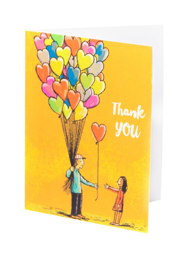 Thank You Cards - Heart Balloons (10 pack)