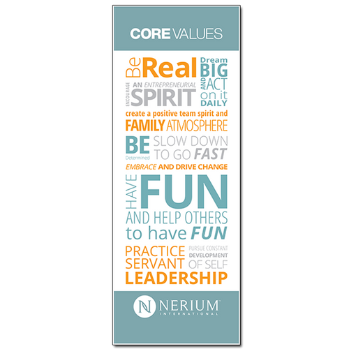 Core Values - Pop-Up Banner (31x84)