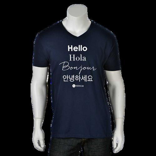 Unisex Hello V-Neck Tee