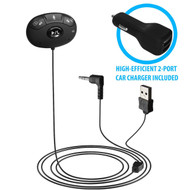 HomeSpot Wireless Bluetooth Hands-free Car Kit with Siri Eyefree for Cars with 3.5mm Aux Input Jack
