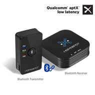 HomeSpot Pre-Paired aptX LOW LATENCY Bluetooth Transmitter and Receiver for TV and Headphones / Speakers, Watching TV without DELAY