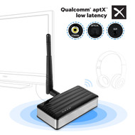 HomeSpot Extreme LONG RANGE Bluetooth Transmitter Dongle Wireless Audio Adapter for TV Gaming with APTX LOW LATENCY, Support Optical, Coaxial & 3.5mm Audio