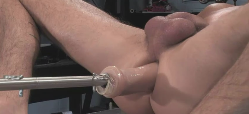 Anal sex machines in use