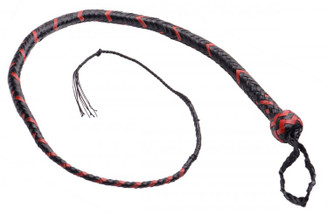 Snake whip 12 Plait 3 foot - Red