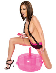 Fetish Fantasy Inflatable Pink Vibrating Hot Seat