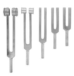 5 Piece Aluminium Tuning Fork Set
