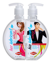 His and Hers Couples Lube Combo Pack - 10 oz