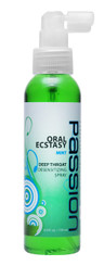 Oral Ecstasy Mint Flavored Deep Throat Numbing Spray- 4 oz.
