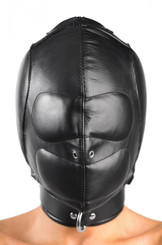 Padded Leather Hood - Medium/Large