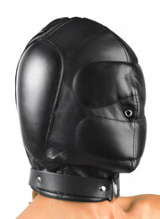Padded Leather Hood - Small/Medium