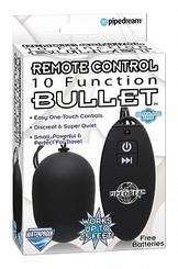 Remote Control 10 Function Bullet Vibrator Black