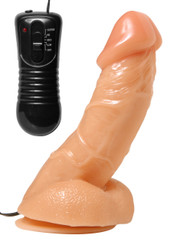 Rock Hard Vibrating Suction Cup Dildo - 5.5 Inches