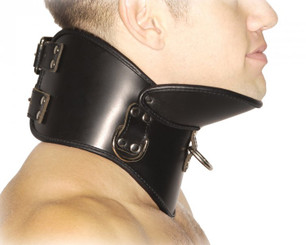 Strict Leather BDSM Posture Collar - Medium/Large