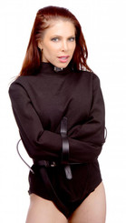 Strict Leather Black Canvas Straitjacket- Medium