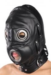 Total Lockdown Leather Hood - Small/Medium