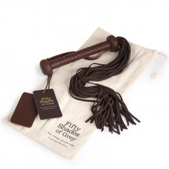 Fifty Shades of Grey Brown Flogger Whip - Sex Toys