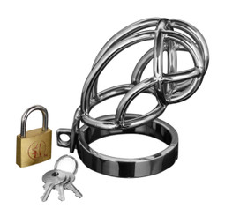 Captus Stainless Steel Locking Male Chastity Cock Cage