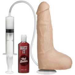Vac-U-Lock Sex Machine Squirting 9 inch Dildo - Vanilla