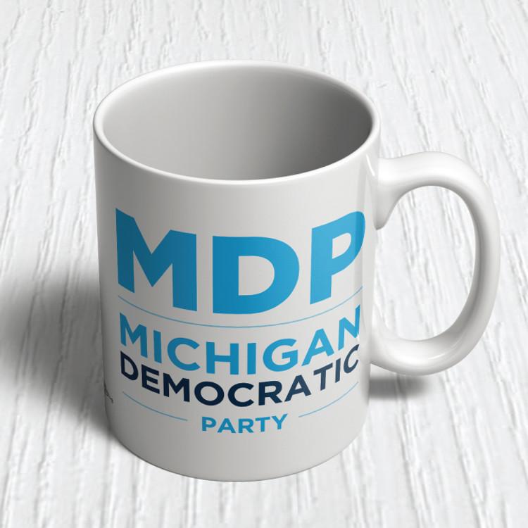 MI Dems Official Logo (11oz. Coffee Mug)