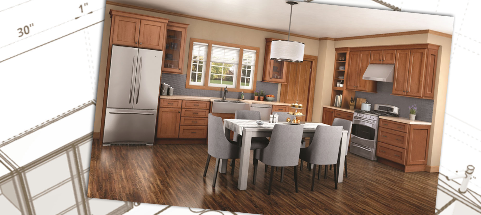 floor plan kitchen design