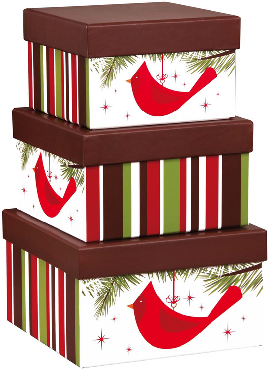 These striking and festive stacking boxes make a great decorative accent in the home, can be used as organizers for pictures, scarves, stationary, keepsakes and accessories, and are easy to store when not in use, They are filled with a delicious array of sweet and savory snacks, desserts and gourmet items. Includes assorted nuts, chocolate chip cookies, cheese, crackers, pretzels, German Chocolate, Caramel Peach Tea, French Roast Coffee, Butter Cookies, Cheese Sticks, Caramel Corn and more.