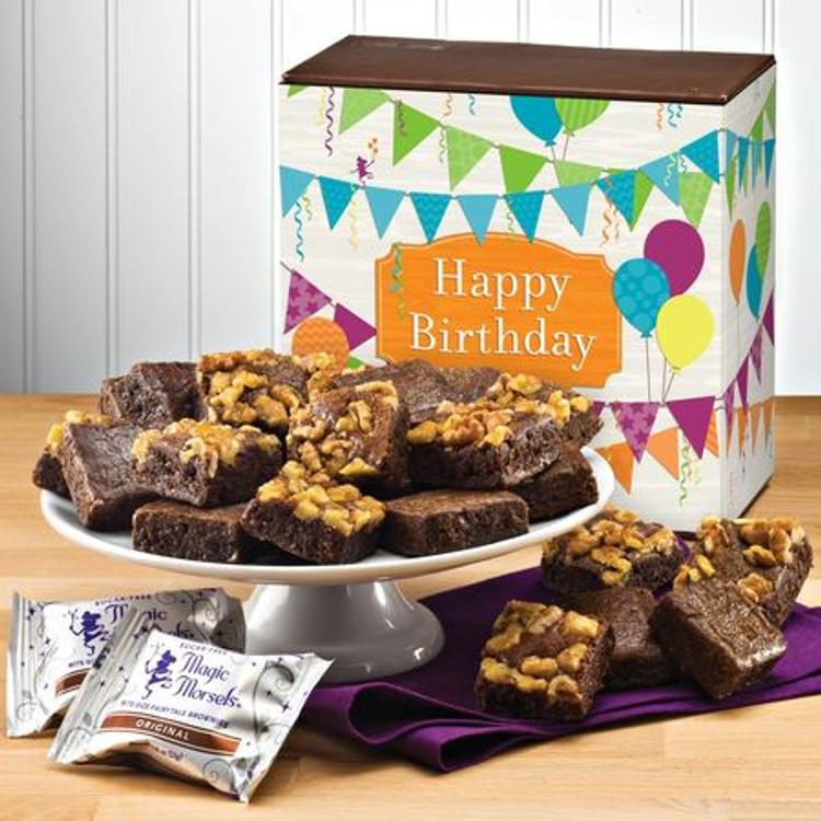 Sugar Free Birthday Brownie Bites